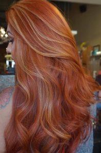 carrot red long hair
