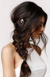 low braid pinned