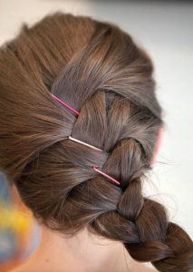 pink pins braid