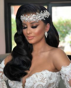 hollywood rhinestone headpiece bride
