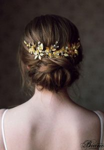 wedding bun gold piece