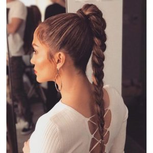 jlo braid ponytail