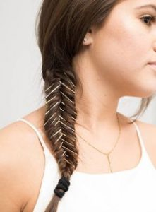 braid with pins in it