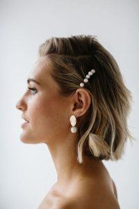 small pearls short hair