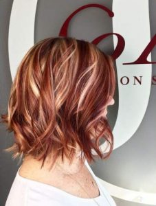 dark red bright blondes