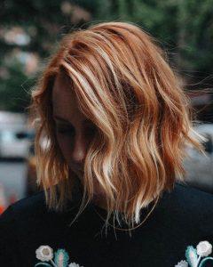 short red hair blonde