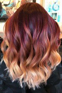 burgundy to blonde