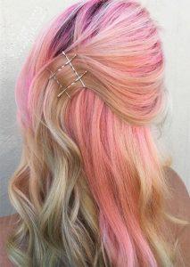 pink hair pins