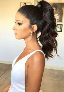 curl slick ponytail