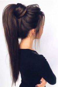 super straight ponytail