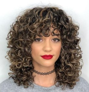 bouncy bang curls