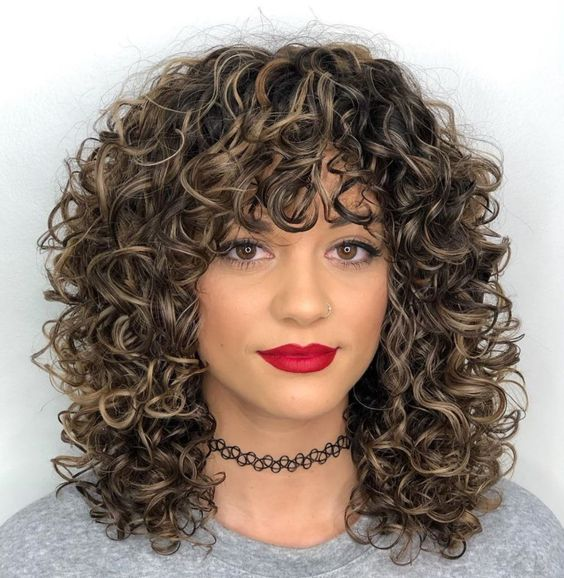 Shoulder Length Curly Hair Styles
