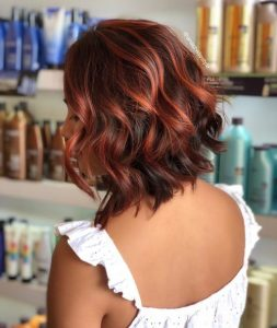 red highlight brown