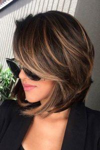 layered highlight brown