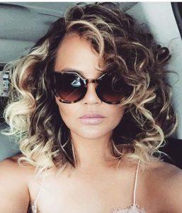 chrissy teigen curly hair