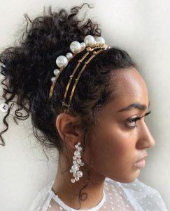 pearl headband curls
