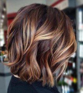 blonde red on brown