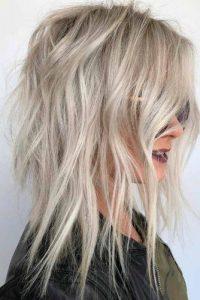 platinum shag hair