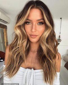caramel blonde tones around face