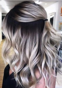 brown root blonde ombre