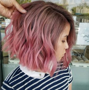 pink ashy brown ombre