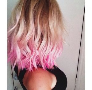 hot pink tip ombre