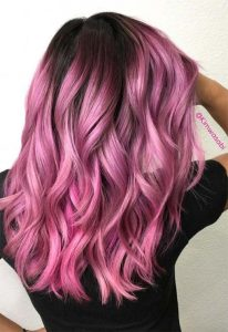 dark bright pink ombre