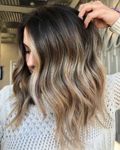 dirty blonde end ombre