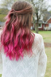 hot pink with brown ombre