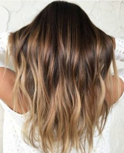 brown tone ombre
