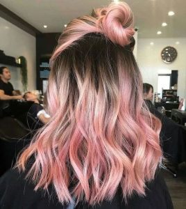 light pink ombre