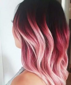 tones of pink ombre