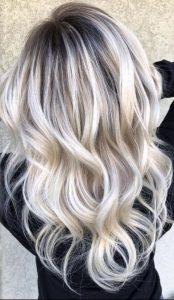shadow root platinum blonde