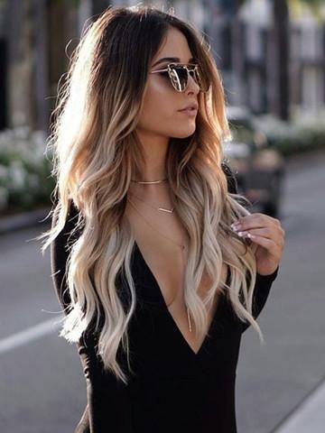 super long ombre hair