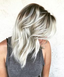 root icy blonde tone