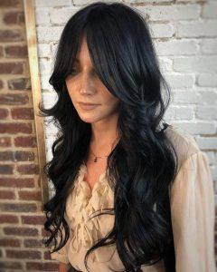 long hair curtain bangs