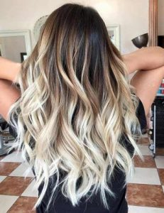 bright blonde ends
