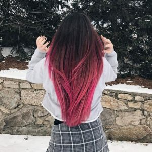 pink bottom ombre