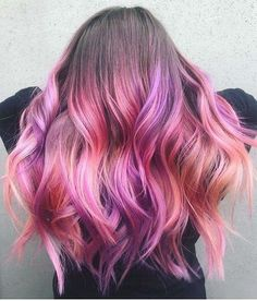 bright pink and purple ombre