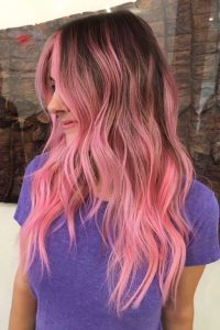 pink shadow root ombre