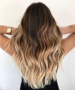 trendy ombre blonde
