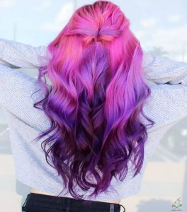 purple and pink color ombre