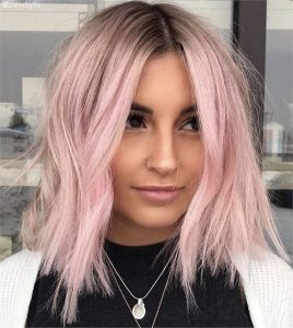 blonde platinum with pink