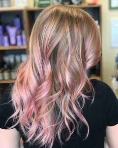 rosey pink ombre