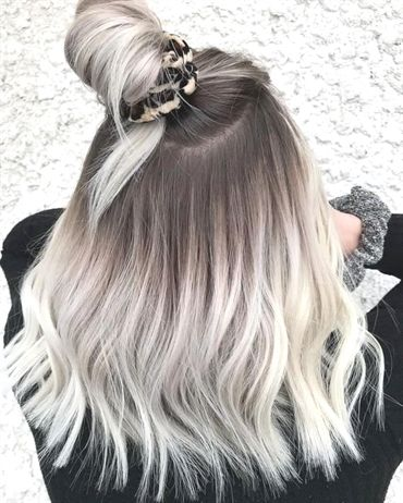 white blonde roots
