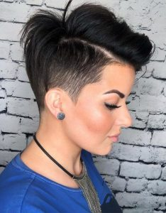 girls edgy pixie shave