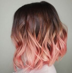 pastel tone pink ombre