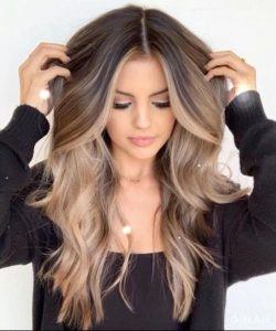 brown blonde ombre mixing