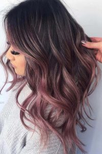 touches of pink ombre
