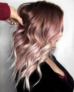 edgy pink ombre color